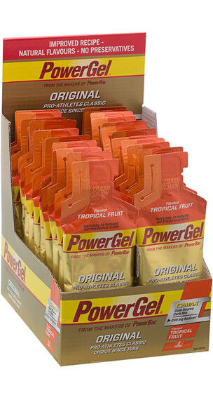 PowerBar Powergel Original Sportvoeding met basisprijs Tropical Fruits  24 x 41g beige/oranje